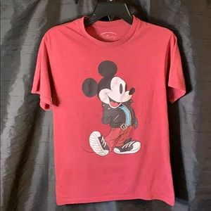 Mickey in Jean jacket Red Shirt - Size M Child